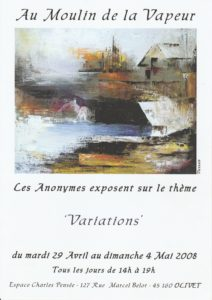 EXPOSITION ANONYMES MOULIN A VAPEUR OLIVET