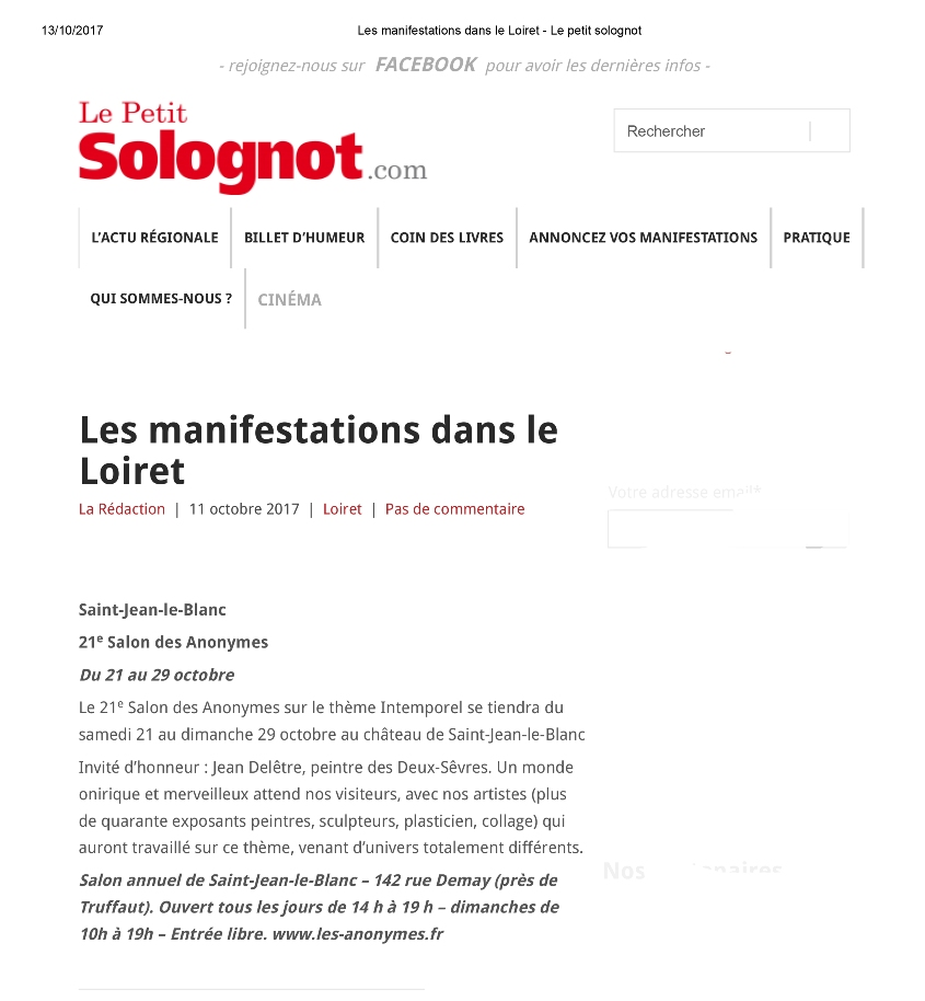 ANNONCE LE PETIT SOLOGNOT